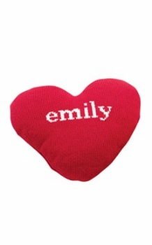 personalized heart baby blanket