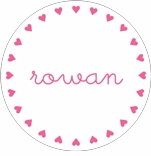 personalized hearts holiday plate (style 3p)