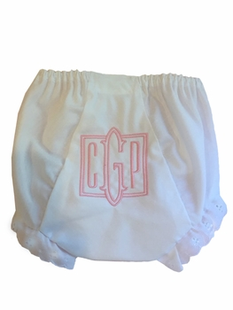 personalized heirloom square monogram diaper cover