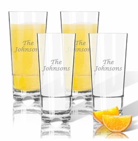 Personalized Highball Glass - Set of 4 (Unbreakable)