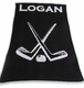personalized hockey stroller blanket