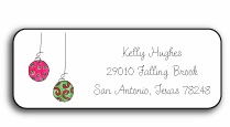 personalized holiday address labels � deck the halls