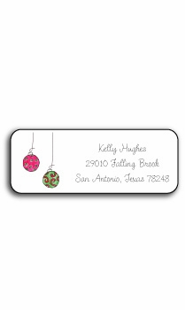 personalized holiday address labels – deck the halls