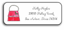 personalized holiday address labels � holiday handbags