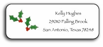 personalized holiday address labels � holly jolly