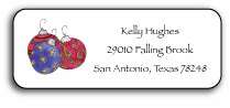 personalized holiday address labels � ornaments