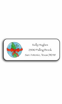 personalized holiday address labels – peace on earth
