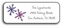 personalized holiday address labels � snowflakes