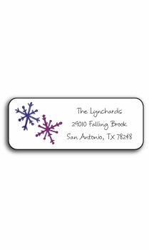 personalized holiday address labels – snowflakes