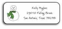 personalized holiday address labels � snowman