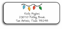 personalized holiday address labels � string of lights