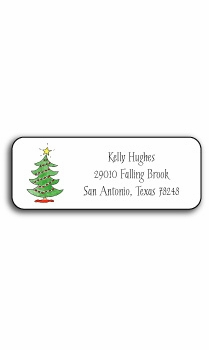 personalized holiday address labels – trim the tree