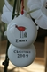 personalized holiday bird christmas ornament