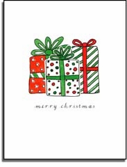 personalized holiday folded cards � all i want for christmas