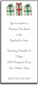 personalized holiday invitations � holiday gifts