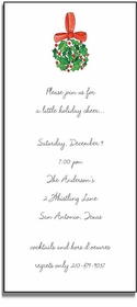 personalized holiday invitations � holly ball