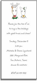 personalized holiday invitations � mr & mrs deer