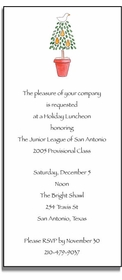 personalized holiday invitations � partridge in a pear tree