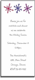 personalized holiday invitations � snowflakes