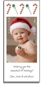 personalized holiday photo cards - candyland