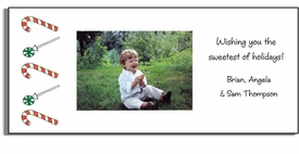 personalized holiday photo cards � candyland
