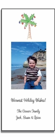 personalized holiday photo cards � christmas palm