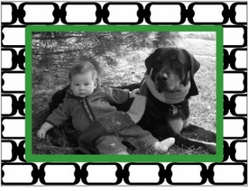 personalized holiday photo cards � green chains