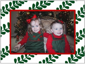personalized holiday photo cards � green vines