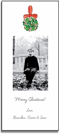 personalized holiday photo cards � holly ball