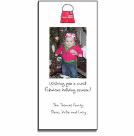 personalized holiday photo cards - holly handbag