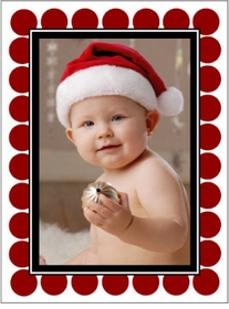 personalized holiday photo cards � red circles