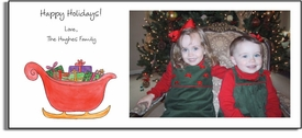 personalized holiday photo cards � sleigh ride