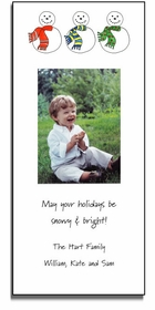 personalized holiday photo cards - snowmen