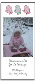 personalized holiday photo cards � winter mittens