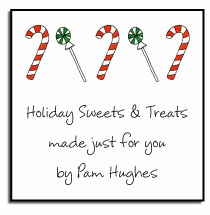 personalized holiday stickers - candyland