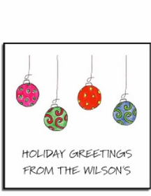 personalized holiday stickers � deck the halls label