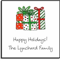 personalized holiday stickers � holiday gifts label