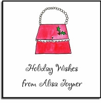 personalized holiday stickers � holiday handbags