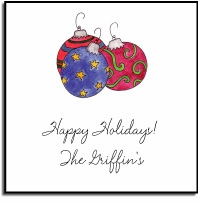 personalized holiday stickers � ornaments label