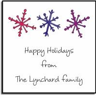 personalized holiday stickers � snowflake label