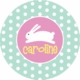 personalized hoppy easter holiday plate (style 1p)