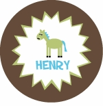 personalized horse boy plate (style 3p)