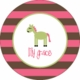 personalized horse plate (style 1p)