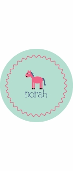 personalized horse plate (style 2p)