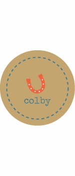 personalized horseshoe boy plate (style 2p)