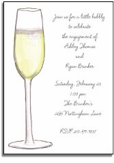 personalized invitations � a little bubbly