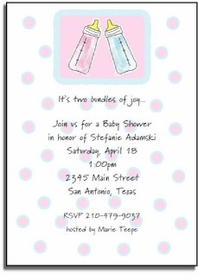 personalized invitations � baby bottles