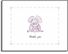 personalized invitations � bunny thank you