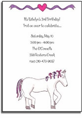 personalized invitations � fairytale ride