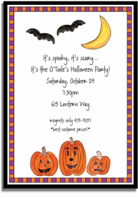 personalized invitations � haunted halloween